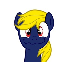 Size: 4000x4000 | Tagged: safe, artist:northernthestar, oc, oc:navy numbers, pony, absurd resolution, bust, male, portrait, simple background, solo, stallion, transparent background, wavy mouth