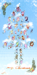 Size: 2500x5000 | Tagged: safe, artist:angusdra, apple bloom, applejack, big macintosh, bright mac, cheerilee, derpy hooves, flash magnus, flash sentry, fluttershy, gallus, granny smith, meadowbrook, mistmane, night light, ocellus, pear butter, pinkie pie, princess cadance, princess celestia, princess ember, princess luna, rainbow dash, rarity, rockhoof, sandbar, scootaloo, shining armor, silverstream, smolder, soarin', somnambula, spike, star swirl the bearded, starlight glimmer, sugar belle, sweetie belle, tempest shadow, twilight sparkle, twilight velvet, yona, alicorn, earth pony, pegasus, pony, unicorn, apple, bell, bow, brightbutter, broken horn, bust, candy, candy cane, christmas, christmas ornament, clothes, decoration, female, food, hat, heart, holiday, horn, male, mare, merry christmas, scarf, shipping, snow, stallion, straight, sugarmac, tongue out, twilight sparkle (alicorn)