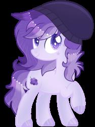 Size: 1324x1761 | Tagged: safe, artist:celestial-rue0w0, oc, oc:jimmy, earth pony, pony, beanie, hat, male, simple background, solo, stallion, transparent background