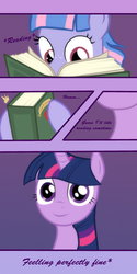 Size: 1500x3000 | Tagged: safe, artist:angusdra, twilight sparkle, wind sprint, pony, book, reading