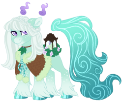 Size: 4042x3383 | Tagged: safe, artist:azure-art-wave, oc, oc:alpine mint, original species, scented pony, female, mare, simple background, solo, transparent background