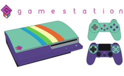 Size: 1542x952   Tagged: safe, artist:biggernate91, derpibooru exclusive, editor:biggernate91, a fine line, equestria girls, equestria girls series, console, controller, dualshock controller, game console, logo, no pony, playstation, playstation 3, text, vector, video game