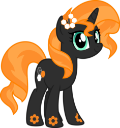 Size: 869x920 | Tagged: safe, artist:ggalleonalliance, oc, oc only, oc:carbon 6, object pony, original species, pony, unicorn, element pony, not sunset shimmer, ponified, recolor, simple background, solo, transparent background