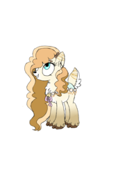 Size: 1000x1500 | Tagged: artist:ravensonglullaby, deer, deer pony, female, hair over one eye, looking up, oc, oc only, original species, safe, simple background, smiling, solo, transparent background