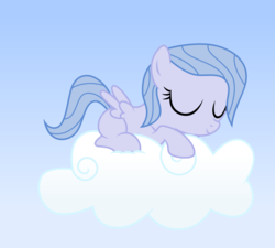 Size: 5000x4500   Tagged: safe, artist:northernthestar, oc, oc:adryna, pegasus, pony, absurd resolution, cloud, female, filly, offspring, parent:flitter, parent:oc:northern star, parents:canon x oc, prone, sleeping, solo