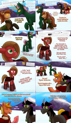 Size: 1402x2406 | Tagged: amputee, artist:wiggles, ask, ask king sombra, ask pun, brown changeling, changeling, derp, disguise, disguised changeling, female, king sombra, magic, mare, oc, oc:coffee talk, oc:dominus, oc:pun, oc:supremus longhorn, pony, racism, rock, saddle bag, safe, snow, tumblr