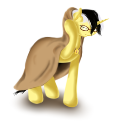 Size: 1000x1000 | Tagged: safe, artist:sa-loony, oc, oc only, pony, clothes, coat, glasses, simple background, solo