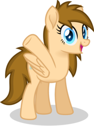 Size: 770x1037   Tagged: safe, artist:peahead, oc, oc only, oc:stellar winds, pegasus, pony, blue eyes, female, folded wings, looking at you, mare, simple background, smiling, solo, standing, transparent background, vector, wings