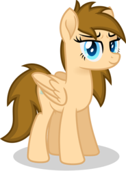 Size: 766x1043   Tagged: safe, artist:peahead, oc, oc only, oc:stellar winds, pegasus, pony, blue eyes, female, folded wings, looking at you, mare, simple background, smiling, solo, standing, transparent background, vector, wings