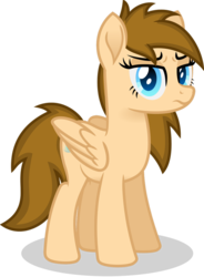 Size: 766x1043   Tagged: safe, artist:peahead, oc, oc only, oc:stellar winds, pegasus, pony, blue eyes, disgusted, female, folded wings, looking at you, mare, scowl, scowling, simple background, solo, standing, transparent background, vector, wings
