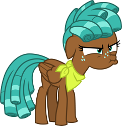 Size: 3388x3500 | Tagged: safe, artist:cloudyglow, spur, pegasus, pony, growing up is hard to do, .ai available, angry, annoyed, female, freckles, high res, mare, scrunchy face, simple background, solo, teenager, transparent background, vector
