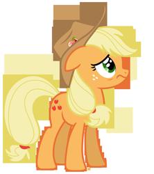 Size: 5935x6695 | Tagged: safe, artist:estories, applejack, pony, absurd resolution, hat, simple background, solo, transparent background, vector