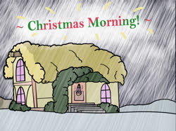 Size: 1500x1124 | Tagged: safe, artist:aaathebap, christmas morning, house, photo, snow
