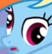Size: 107x112 | Tagged: safe, screencap, rainbow dash, pegasus, pony, cropped, derp, faic, female, mare, open mouth, rainbow dash is best facemaker, solo