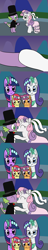 Size: 1024x5376 | Tagged: safe, artist:platinumdrop, apple bloom, rarity, scootaloo, spike, sweetie belle, twilight sparkle, a canterlot wedding, comic, female, flower girl, kissing, male, request, shipping, spikebelle, straight, waltz
