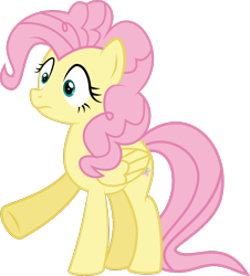 Size: 782x865 | Tagged: safe, artist:crystalmagic6, fluttershy, pegasus, pony, the mean 6, pinkie pie hair, shocked, shocked expression, solo