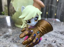 Size: 1280x958 | Tagged: safe, artist:theanimefanz, derpy hooves, equestria girls, doll, equestria girls minis, infinity gauntlet, marvel, merchandise, toy
