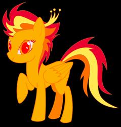 Size: 1974x2067 | Tagged: safe, artist:radioactive nero, derpibooru exclusive, oc, oc:phoenix fire, pegasus, pony, phoenix pony, raised hoof, simple background, transparent background