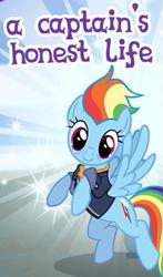 Size: 323x548 | Tagged: safe, rainbow dash, pegasus, pony, the last problem, cropped, gameloft, meme, older, older rainbow dash, wow! glimmer