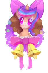 Size: 592x900 | Tagged: safe, artist:darkjillmlp123, oc, oc:sweet hearts, pony, unicorn, base used, christmas wreath, female, mare, simple background, solo, transparent background, wreath