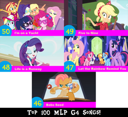 Size: 1704x1560 | Tagged: safe, artist:don2602, edit, edited screencap, screencap, applejack, babs seed, fluttershy, pinkie pie, rainbow dash, rarity, sci-twi, sunset shimmer, twilight sparkle, alicorn, earth pony, pegasus, pony, unicorn, equestria girls, equestria girls series, five to nine, i'm on a yacht, life is a runway, one bad apple, twilight's kingdom, spoiler:eqg series (season 2), 3d, apple, babs seed song, bandana, candy apple (food), cap, clothes, dress, food, glasses, grin, hat, humane five, humane seven, humane six, let the rainbow remind you, lidded eyes, mane six, multiple characters, one eye closed, popcorn, smiling, soda, sunburn, top 100 mlp g4 songs, twilight sparkle (alicorn), twilight's castle, wink