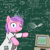 Size: 1024x1024 | Tagged: safe, artist:darkdoomer, derpibooru exclusive, diamond tiara, astrophysics, calculator, clothes, coat, computer, fancy mathematics, insanity, math, ms paint, nerd, physics, science