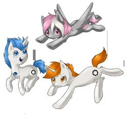 Size: 1500x1381 | Tagged: safe, artist:lightning-stars, oc, pony, robot, robot pony, atlas, companion cube, p-body, ponified, portal, portal (valve)