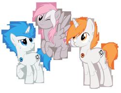 Size: 5010x3851 | Tagged: safe, artist:lightning-stars, pony, robot, robot pony, atlas, companion cube, p-body, ponified, portal, portal (valve)