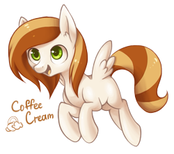 Size: 939x831 | Tagged: safe, artist:lightning-stars, oc, oc:coffee cream, simple background, solo, transparent background