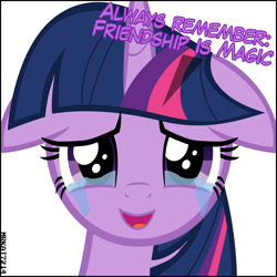 Size: 4000x4000 | Tagged: safe, artist:mrkat7214, twilight sparkle, alicorn, pony, absurd resolution, crying, crylight, crylight sparkle, cute, dialogue, end of ponies, female, floppy ears, happy, looking at you, mare, sad, sadorable, simple background, smiling, smiling at you, solo, talking to viewer, tears of joy, teary eyes, title drop, twiabetes, twilight sparkle (alicorn), twily, underhoof, vector, white background