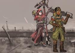 Size: 4096x2897 | Tagged: safe, artist:toisanemoif, oc, oc only, anthro, anthro oc, clothes, warhammer (game), warhammer 40k