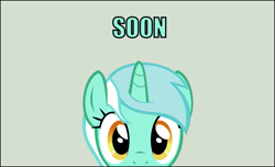 Size: 961x585   Tagged: safe, artist:tritebristle, lyra heartstrings, pony, simple background, solo, soon
