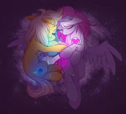 Size: 2000x1800 | Tagged: safe, artist:lightning-stars, oc, oc:lightning star, pony, robot, robot pony, companion cube, ponified, portal, portal (valve), solo