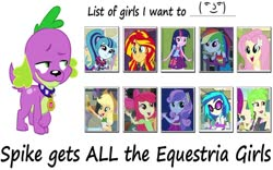 Size: 1024x637 | Tagged: safe, edit, edited screencap, screencap, apple bloom, applejack, cherry crash, dj pon-3, fluttershy, rainbow dash, sonata dusk, spike, sunset shimmer, sweetie belle, twilight sparkle, vinyl scratch, dog, equestria girls, equestria girls (movie), rainbow rocks, applespike, bestiality, clothes, dress, duspike, fall formal outfits, female, flutterspike, interspecies, le lenny face, lucky bastard, male, rainbowspike, shipping, spike gets all the equestria girls, spike the dog, spikebelle, spikebloom, spikecrash, spinata, straight, sunsetspike, twispike, vinylspike
