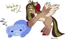 Size: 1591x954 | Tagged: safe, artist:helemaranth, oc, oc:helemaranth, pegasus, pony, discord (program), horns, solo, wumpus