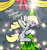 Size: 2560x2700   Tagged: safe, artist:kimjoman, derpy hooves, pegasus, pony, bow, christmas, christmas lights, christmas tree, cute, derpy star, female, holiday, mare, solo, spread wings, text, tree, wings
