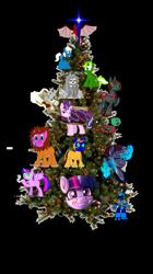 Size: 803x1429 | Tagged: artist needed, safe, artist:ananonymousduck, artist:commander something, artist:fidzfox, artist:jfpierre, artist:vaguelycreepy, starlight glimmer, twilight sparkle, oc, oc:black-bird, oc:circuit mane, oc:deathlight, oc:sweetie bloom, oc:toacoy, oc:tsuki, oc:vick, alicorn, big cat, lion, candy, candy cane, christmas, christmas tree, clothes, costume, food, holiday, kingdom hearts, ornament, poptart, the brony show, tinkerbell, tree, twilight sparkle (alicorn)