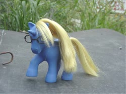 Size: 640x480 | Tagged: safe, artist:lonewolf3878, pony, unicorn, ace attorney, adrian andrews, brushable, custom, g1, glasses, irl, photo, ponified, toy