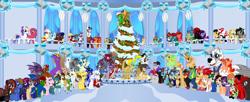 Size: 1400x571 | Tagged: safe, artist:vector-brony, oc, oc only, oc:antonyc, oc:any, oc:any pony, oc:aramau, oc:brawny buck, oc:bright idea, oc:britishninja, oc:caitbug, oc:countess rose, oc:crimson glow, oc:dr. wolf, oc:emerald blast, oc:firebrand, oc:geeky steven, oc:greycat silvermane, oc:gutiu serenade, oc:ink rose, oc:jasper pie, oc:keychi, oc:keyframe, oc:mad munchkin, oc:manga kamen, oc:mangakamen, oc:midnight sonata, oc:misanthropony, oc:mrs. wolf, oc:pristine, oc:sapphire heart song, oc:segasister, oc:shadowstone, oc:sharp wit, oc:silver quill, oc:starry flame, oc:sweetie bloom, oc:terra hoof, oc:the editor, oc:the watchful pony, oc:thespio, oc:trail grazer, oc:tricky fox, oc:tyandaga, oc:vector, oc:voice of reason, oc:watchful pony, alicorn, cat, fox, griffon, hippogriff, kirin, wolf, alicorn oc, animaniacs, brony analyst, christmas, christmas tree, goldenkey, holiday, kamenheart, tree, yakko warner