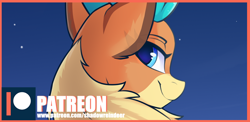 Size: 1024x500 | Tagged: safe, artist:shadowreindeer, velvet reindeer, them's fightin' herds, looking at you, looking back, looking back at you, patreon, patreon exclusive, solo