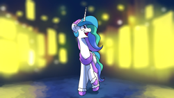 Size: 1920x1080 | Tagged: safe, artist:anticular, screencap, princess celestia, alicorn, pony, christmas, clothes, female, hat, holiday, mare, mittens, scarf, solo, youtube link
