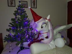 Size: 4000x3000 | Tagged: safe, artist:arniemkii, fleur-de-lis, alicorn, horse, inflatable pony, pegasus, pony, unicorn, bootleg, christmas, christmas tree, female, holiday, hongyi, inflatable, inflatable toy, inflation, mare, tree