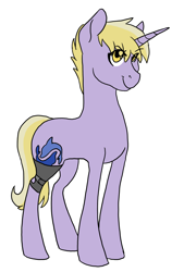 Size: 2236x3300 | Tagged: safe, artist:phobicalbino, dinky hooves, pony, female, leg brace, mare, older, older dinky hooves, simple background, smiling, solo, white background