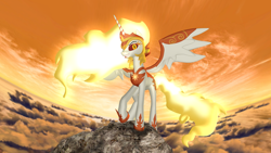 Size: 1920x1080 | Tagged: safe, artist:feuerrader-nmm, daybreaker, pony, 3d, solo