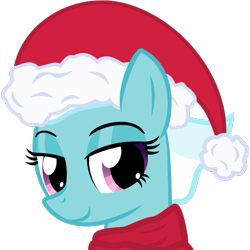 Size: 425x425 | Tagged: safe, artist:the smiling pony, fleetfoot, pegasus, pony, .svg available, christmas, clothes, female, hat, holiday, lidded eyes, mare, santa hat, scarf, simple background, smiling, solo, svg, transparent background, vector