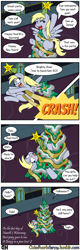 Size: 1280x4000 | Tagged: safe, artist:outofworkderpy, derpy hooves, pony, comic:out of work derpy, comic:outofworkderpy, christmas, christmas tree, comic, funny, hearth's warming eve, holiday, outofworkderpy, solo, stuck, tree