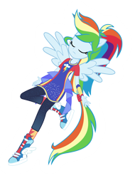 Size: 9000x11404 | Tagged: safe, artist:lincolnbrewsterfan, rainbow dash, pegasus, equestria girls, forgotten friendship, spoiler:eqg series, can't touch this, cool, epic, epic face, glow, leaning back, ponied up, serious, serious face, simple background, solo, super ponied up, transparent background, vector, you've got this