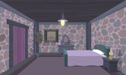 Size: 1477x879 | Tagged: safe, artist:culu-bluebeaver, comic:the newcomer, season 5, bed, bedroom, door, equal town, lamp, mirror, oil lamp, our town, picture, room, starlight's room