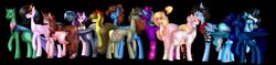 Size: 7497x1769 | Tagged: safe, artist:moonlight0shadow0, tempest shadow, oc, oc:apple bomb, oc:badgering badger, oc:chole, oc:darkknighthoof, oc:devulsa, oc:elizabat stormfeather, oc:evening glitter, oc:liz, oc:midnight, oc:moonlight shadow, oc:opacity, oc:rainbow noir, oc:silly scribe, oc:starry mind, oc:white lilly, alicorn, bat pony, bat pony alicorn, changedling, changeling, earth pony, pegasus, pony, unicorn, 2020 community collab, derpibooru community collaboration, icey-verse, alicorn oc, bandana, bat pony oc, blushing, bow, bowtie, canon x oc, changedling oc, changeling oc, chest fluff, clothes, colored sclera, cowboy hat, cute, ear piercing, earring, eye scar, eyepatch, fangs, female, femboy, glasses, hair bow, hat, jewelry, lesbian, magical lesbian spawn, male, mare, markings, multicolored hair, necklace, oc x oc, offspring, parent:applejack, parent:starlight glimmer, parent:strawberry sunrise, parent:sunset shimmer, parents:applerise, parents:shimmerglimmer, piercing, plushie, rainbow hair, raised hoof, raised leg, scar, shipping, simple background, socks, stallion, stockings, stormshadow, striped socks, sweater, thigh highs, torn clothes, transparent background, unshorn fetlocks, wall of tags