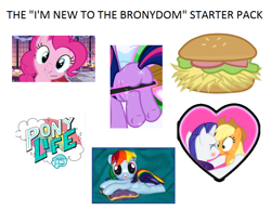 Size: 814x632 | Tagged: safe, artist:madponyscientist, artist:navitaserussirus, artist:sir-teutonic-knight, edit, edited screencap, screencap, applejack, pinkie pie, rainbow dash, rarity, twilight sparkle, earth pony, pony, unicorn, my little pony: pony life, pony life, winter wrap up, blushing, burger, butt, caption, cropped, cupcake, custom, female, filly, food, hay burger, irl, kissing, lesbian, logo, looking at you, mare, meme, photo, plot, rarijack, shipping, simple background, smiling, starter pack, text, title, toy, twibutt, underhoof, vector